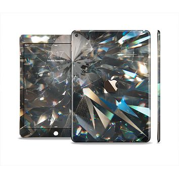 The Abstract Shattered Crystal Pattern Skin Set for the Apple iPad Air 2