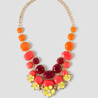 Shelley Multi-Color Floral Statement Necklace