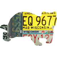 Wisconsin License Plate Badger
