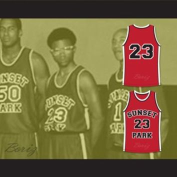 De'aundre Bonds Busy-Bee 23 Sunset Park Basketball Jersey Stitch Sewn
