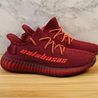 Adidas Yeezy Boost 350V2 Red  Running  Sneaker