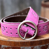 Free Shipping - Leather Belt - Women's Leather Belt - in PINK