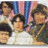 Framed The Monkees tv show scene mosaic 9X11 inch Limited Edition Art Print COA