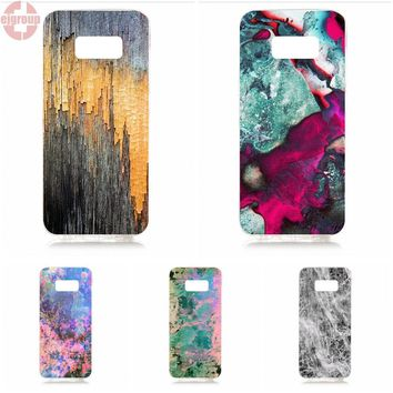 EJGROUP Soft TPU Silicon Capa Cover Case michael chase marbling white and pink For Samsung Galaxy S8 5.8 inch G950F SM-G9500