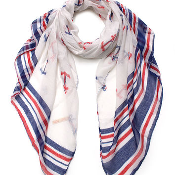Cozy by LuLu - Americana Anchor Scarf