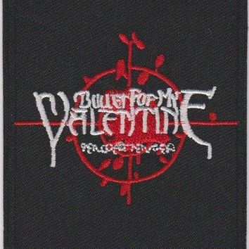 Bullet For My Valentine Iron-On Patch Rectangle Letters Logo