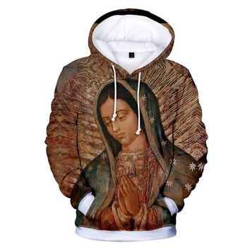 KPOP BTS Bangtan Boys Army  Hoodies Kawaii 3D Our Lady of Guadalupe Sweatshirt Long Sleeve Women Clothes 2018 Tops  Hip Hop Plus Size Q1252-Q1259 AT_89_10