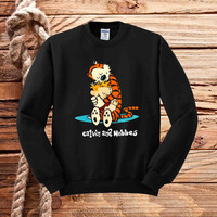 Calvin and Hobbes sweater unisex adults