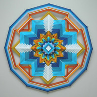 Guiding Light, a 24 inch, wool yarn, Ojo de Dios, by custom order