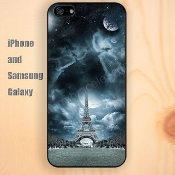 Eiffel Tower under the stars iphone 6 6 plus iPhone 5 5S 5C case Samsung S3,S4,S5 case Ipod Silicone plastic Phone cover Waterproof
