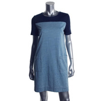 Marc by Marc Jacobs Womens Cotton Colorblock Casual Dress