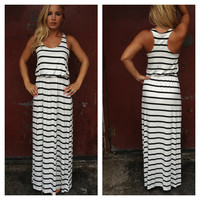 Black & White Heather Maxi Dress