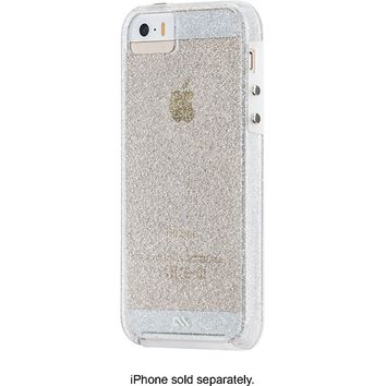 Case-Mate - Sheer Glam Case for Apple® iPhone® 5 and 5s - Clear/Champagne