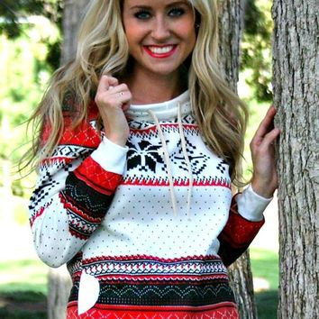 Holly Snowflake Sweatshirt