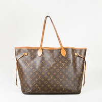 """Louis Vuitton Brown Monogram Coated Canvas """"Neverfull GM"""" Tote Bag"""