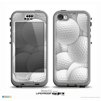 The Golf Ball Overlay Skin for the iPhone 5c nüüd LifeProof Case