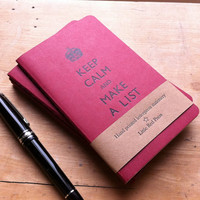 Keep Calm And Make A List Letterpress by LittleRedPressLondon