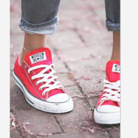 Converse  Leisure Comfort Shoes All Star Sneakers for Unisex sports Red