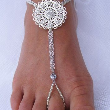BEYONCE Barefoot Sandals by PassionflowerJewelry