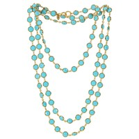 Chanel Sautoir with Faceted Turquoise Stones