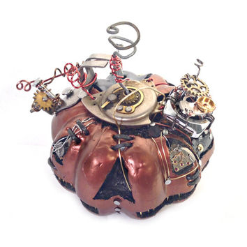 Small Steampunk Halloween Pumpkin