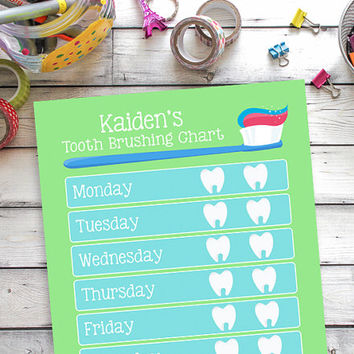 Tooth Brushing Reward Chart, Tooth Brushing Printable, Chore Chart, Responsibilities Chart, Tooth Brushing Chart, Boy Tooth Brushing Chart