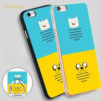 Minason Adventure Time Motivation Mobile Phone Shell Soft TPU Silicone Case Cover for iPhone X 8 5 SE 5S 6 6S 7 Plus