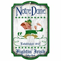 NCAA Notre Dame Fighting Irish 11-by-17 Wood Sign