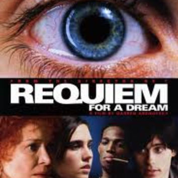 Requiem for a Dream Movie Poster 27x40 Used Jared Leto, Jimmie Ray Weeks, John Getz, Ajay Naidu, Todd Miller, Jack O'Connell, Sean Gullette, Ellen Burstyn, Denise Dowse, Keith David, John Bryant Davila, Peter Maloney