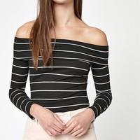 LA Hearts Folded Off-The-Shoulder Top at PacSun.com