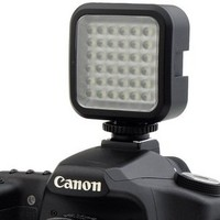 Chromo Inc. Rechargeable Ultra-Bright LED 36 Camera / Video Light Flash with Hot Shoe and Tripod Adapter for Canon , Sony , Nikon and Other DSLR Cameras