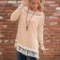 For The Love Of Fringe Top, Mustard