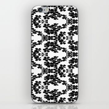 primrose bw pattern iPhone & iPod Skin by ARTbyJWP