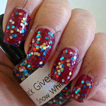 Snow White - Full Size (15ml/.5oz) Glitter Nail Polish