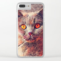 cat Gina #cat #cats #animals Clear iPhone Case by jbjart