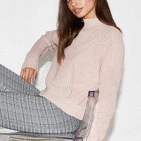 Kendall & Kylie Boxy Mock Neck Pullover Sweater at PacSun.com