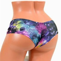 Big Bang Theory Galaxy Print Ultra Cheeky Booty Shorts