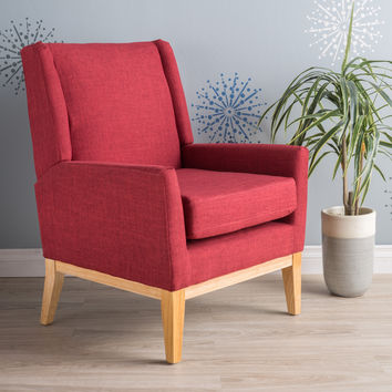 Maeve Red Fabric Accent Chair