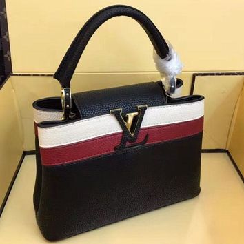 LV fashionable hot patchwork black shoulder bag