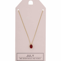 July Birthstone Necklace - Topshop