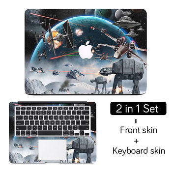"Cool Star Wars Full Cover Skin Laptop Sticker for Apple MacBook Air Pro Retina 11"" 12"" 13"" 15"" Art Notebook Decal Skin on Case"