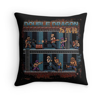 'Dragon Double' Throw Pillow by likelikes