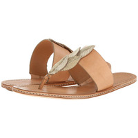 Aerin Womens Pearce Leather Metallic Thong Sandals