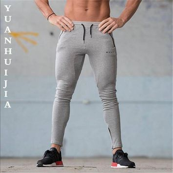 Men pants 2017 Men Gyms Pants Casual Elastic cotton Mens Fitness Workout Pants skinny,Sweatpants Trousers Jogger Pants