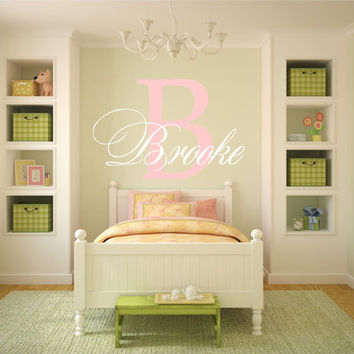 Personalized Name Wall Decal, Name Wall Decal, Baby Nursery Decal, Nursery Name Decal, Monogram Decal, Girl Name Decal, Monogram