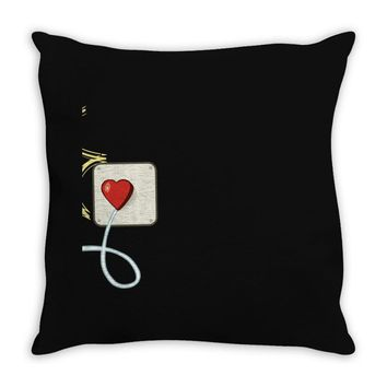 Electrical Plug & Light Bulb Couples Design Throw Pillow