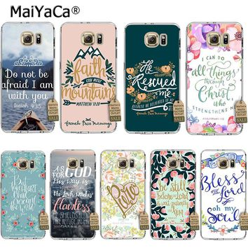 MaiYaCa Bible verse Philippians Jesus Christ Christian Coque Phone Case  for Samsung S5 S6 S7 Edge S8 Plus S6 Edge Plus S3 S4