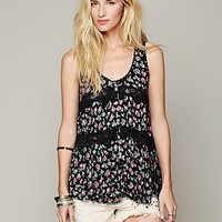 Free People Floral Printed Vest