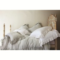 Rachel Ashwell Shabby Chic Couture Teal Silk Jaquard Bedding