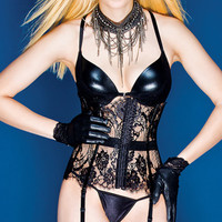 PVC and Lace Waist Cincher